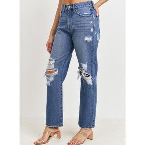 JBD High Rise Dad Jeans | Medium Wash